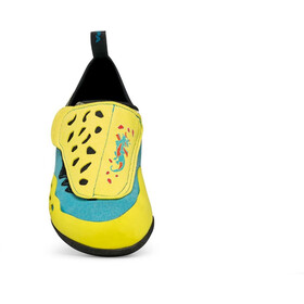 Scarpa Piki J Scarpe da arrampicata Bambino, giallo/turchese